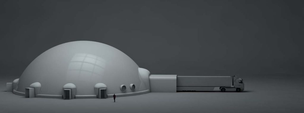 120' inflatable Projection Dome IMRSV-X