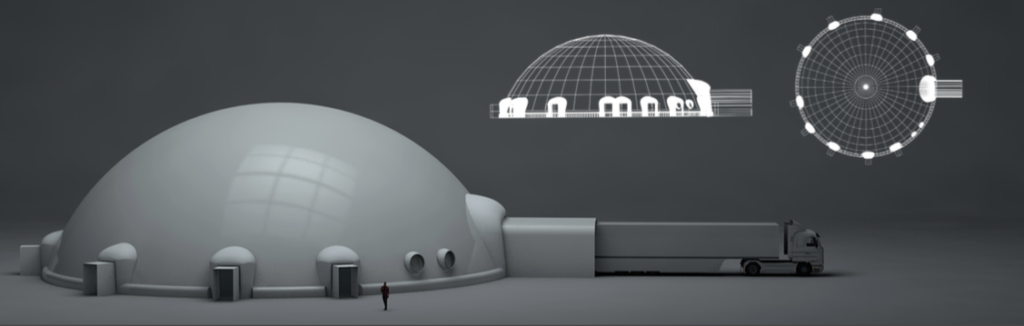 Large Inflatable Projection Dome