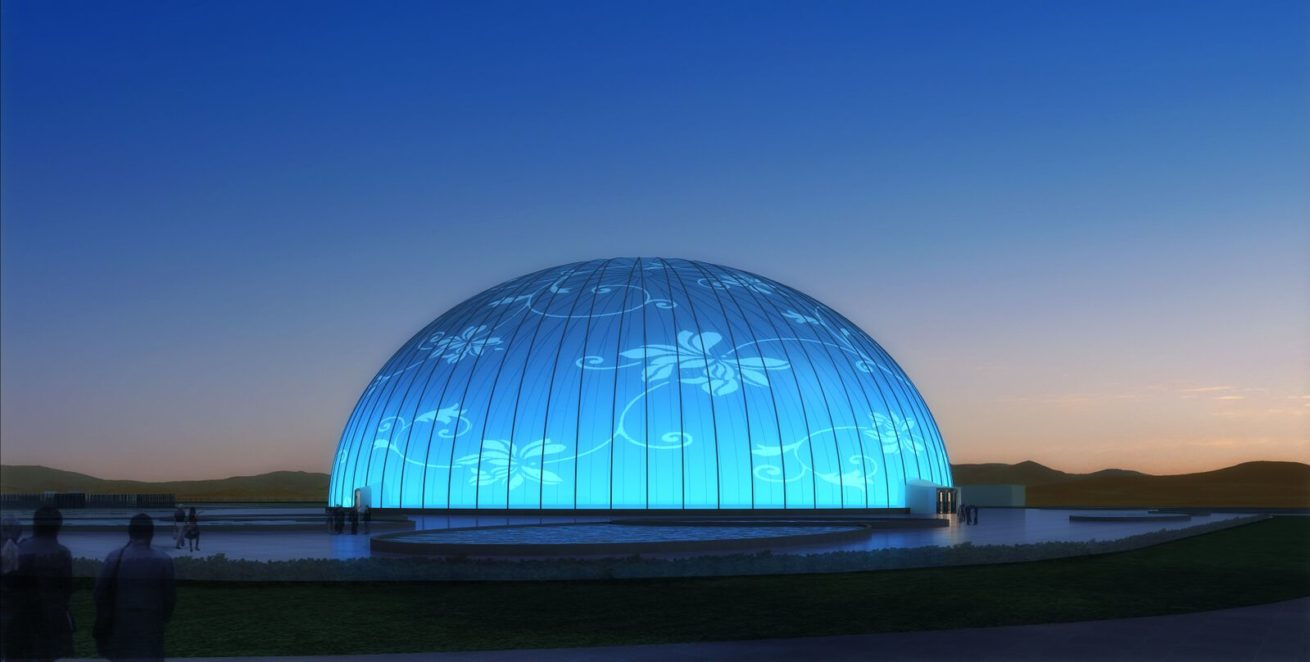 Large Inflatable 360 Projection Dome by Immersive Experiential