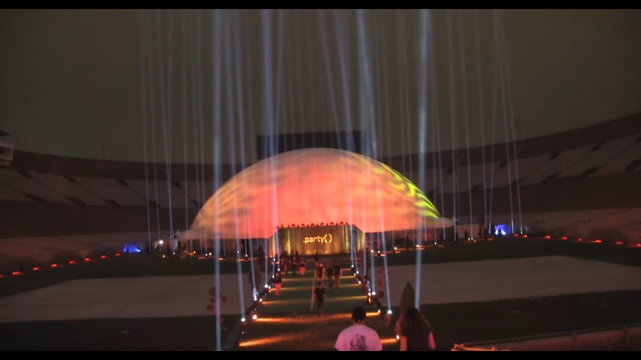 Largest Inflatable 360 Projection Dome by Immersive Experiential
