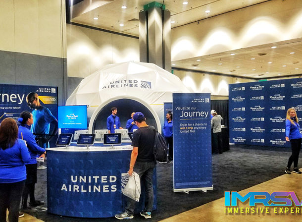 United Airlines Visualize your Journey 360 Projection Dome